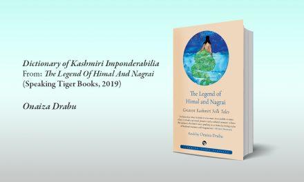 Dictionary of Kashmiri Imponderabilia — by Onaiza Drabu