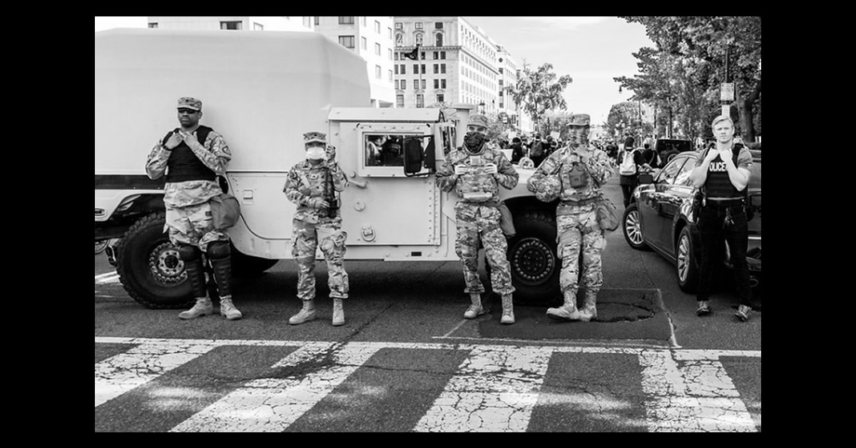 We all need to stand up for protesters—and say NO to Trump's militarized response — by Mary Zerkel